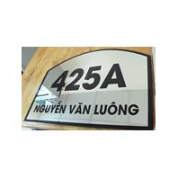 bảng tên phòng inox - Quảng cáo Tứ Quý tại Nha Trang