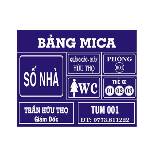 Bảng Tên Phòng Mica - Quảng Cáo Tứ Quý Tại Nha Trang