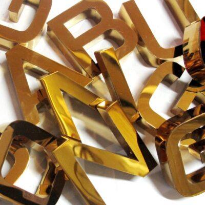 Chữ Inox Gương Vàng - Bảng Hiệu Quảng Cáo Tại Nha Trang | Quảng Cáo Tứ Quý