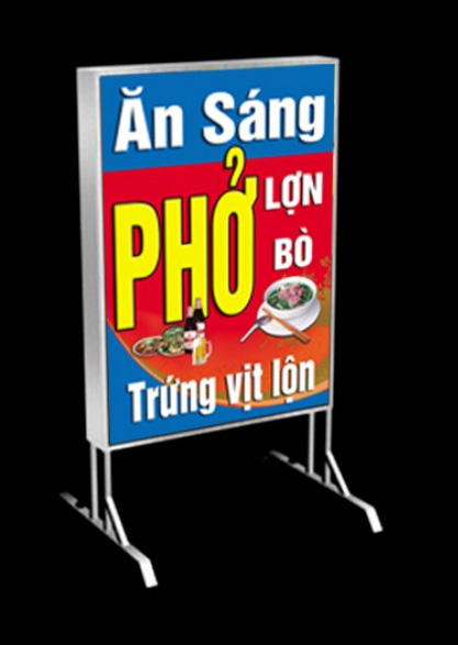 Hộp Đèn Hiflex 2 Mặt Có Chân - Quảng Cáo Tứ Quý Tại Nha Trang