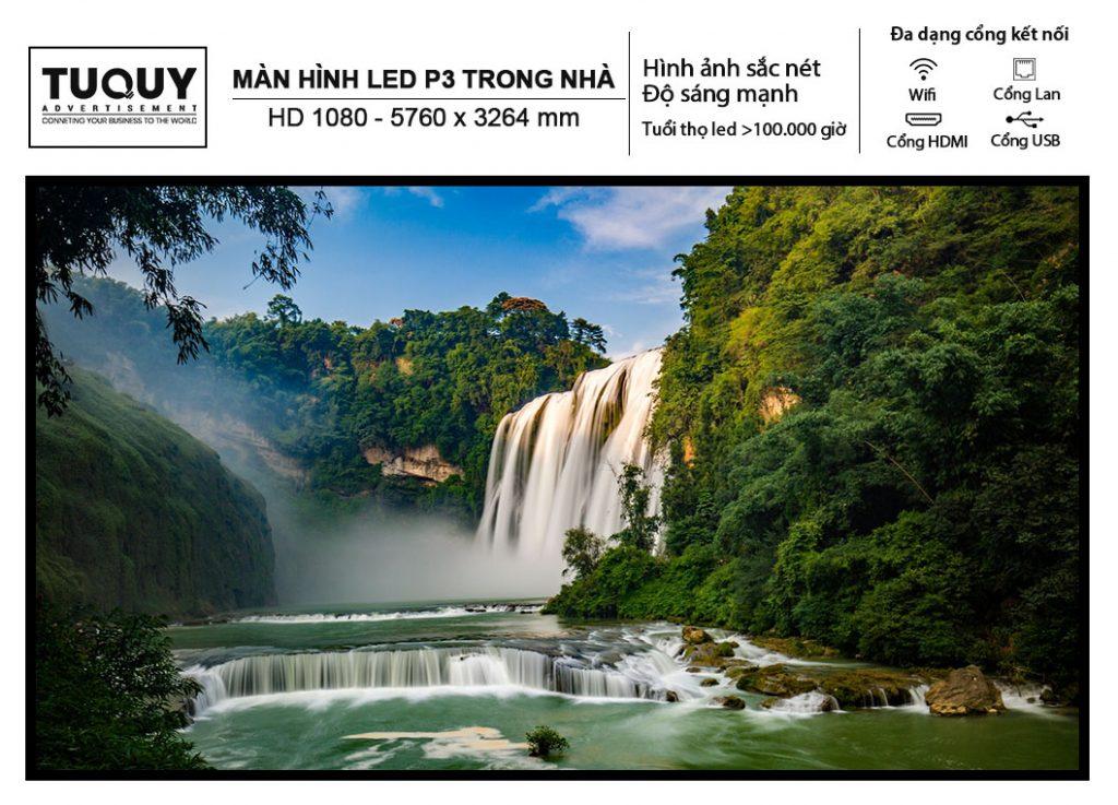 Màn Hình Led P3 Trong Nhà - HD 1080 - 5760 x 3264 mm