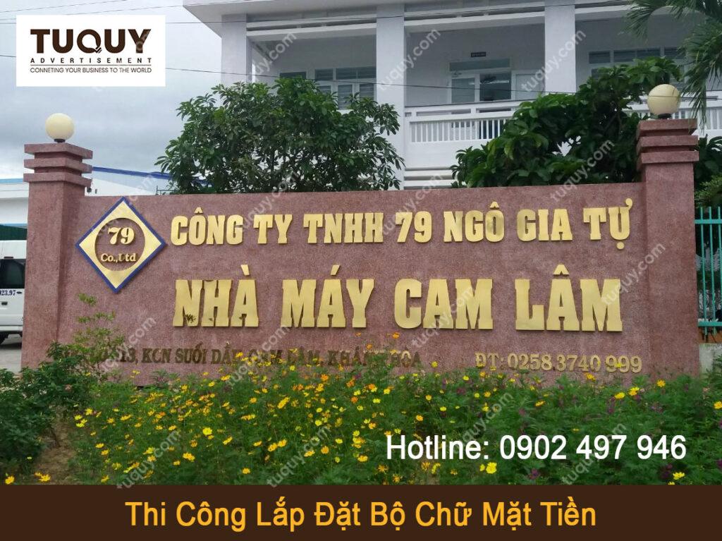 Bộ Chữ Inox Vàng Gương Mặt Tiền - Quảng Cáo Tứ Quý Tại Nha Trang