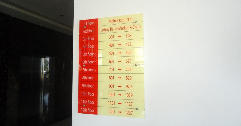 Bảng chỉ dẫn các tầng